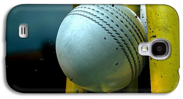 White Cricket Ball And Wickets Galaxy S4 Case by Allan Swart