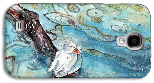 White Duck On The Constance Lake In Winter Galaxy S4 Case by Miki De Goodaboom