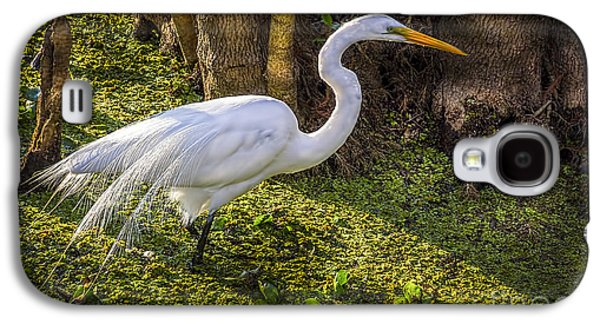 Egret Galaxy S4 Case - White Egret On The Hunt by Marvin Spates