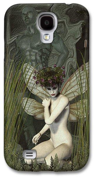 White Fairy Galaxy S4 Case by Quim Abella