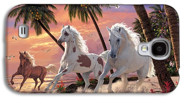 White Horses Galaxy S4 Case
