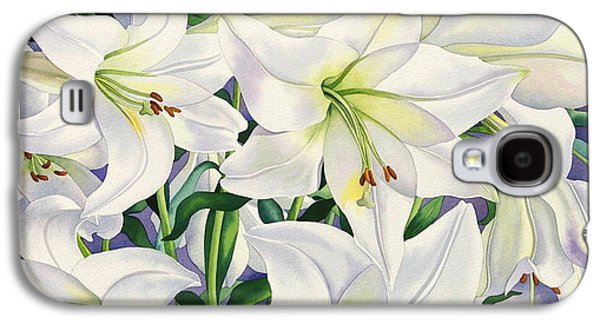 White Lilies Galaxy S4 Case by Christopher Ryland