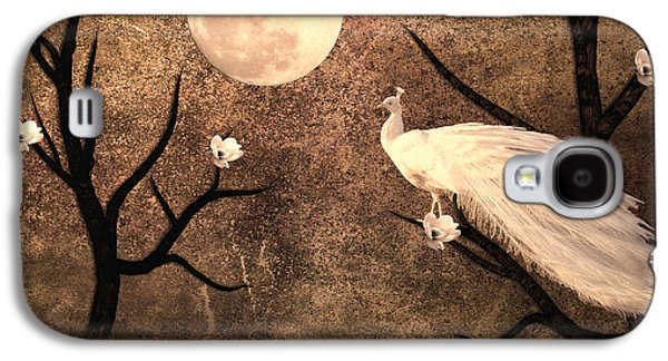 White Peacock Galaxy S4 Case by Sharon Lisa Clarke
