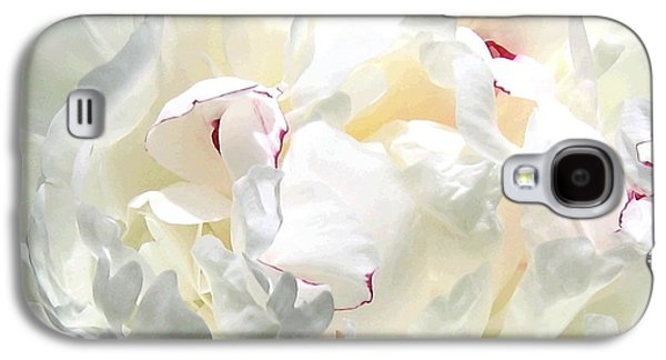 White Peony Galaxy S4 Case by Will Borden