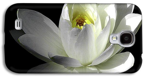 White Petals Aquatic Bloom Galaxy S4 Case