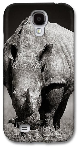White Rhinoceros  In Due-tone Galaxy S4 Case by Johan Swanepoel