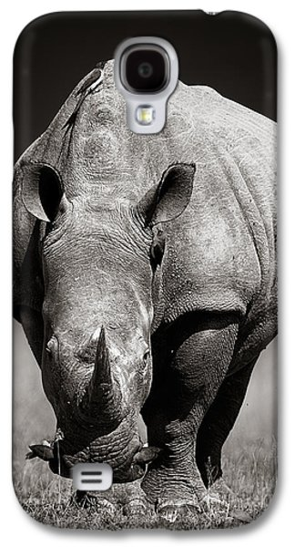 White Rhinoceros  In Due-tone Galaxy S4 Case