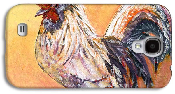 Chicken Galaxy S4 Case - White Rooster by Jennifer Lommers