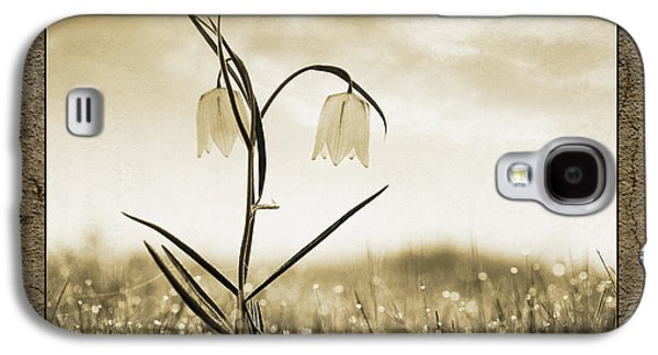 White Snakes Head Fritillary In Morning Dew Galaxy S4 Case by Tim Gainey