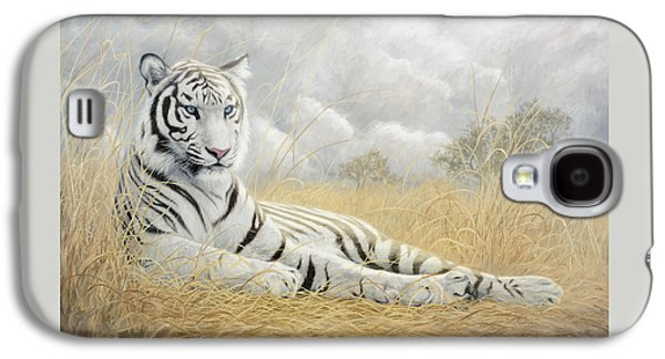 White Tiger Galaxy S4 Case