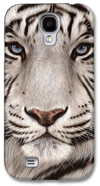 White Tiger Painting Galaxy S4 Case