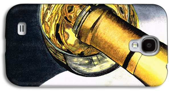 White Wine Art - Lap Of Luxury - By Sharon Cummings Galaxy S4 Case by Sharon Cummings