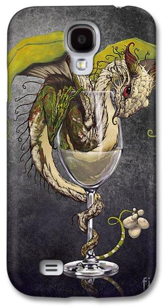 Dragon Galaxy S4 Case - White Wine Dragon by Stanley Morrison