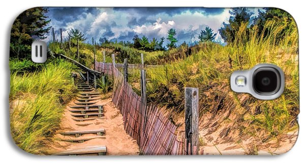 Whitefish Dunes State Park Stairs Galaxy S4 Case by Christopher Arndt