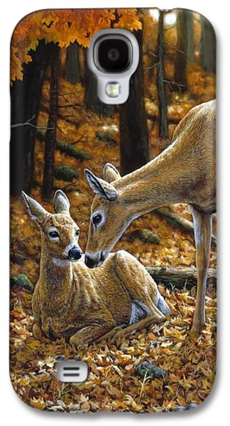 Whitetail Deer - Autumn Innocence 2 Galaxy S4 Case by Crista Forest