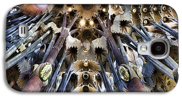Wide Panorama Of The Interior Ceiling Of Sagrada Familia In Barcelona Galaxy S4 Case by David Smith
