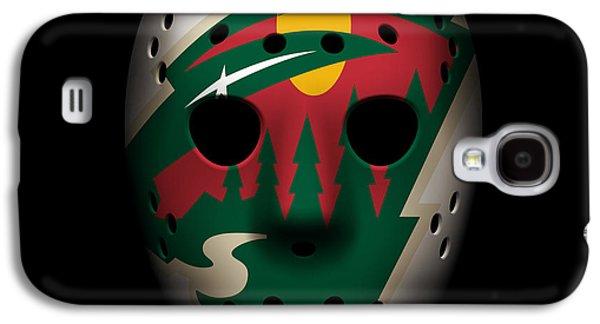 Wild Goalie Mask Galaxy S4 Case by Joe Hamilton