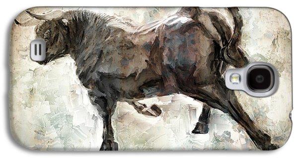 Wild Raging Bull Galaxy S4 Case by Daniel Hagerman