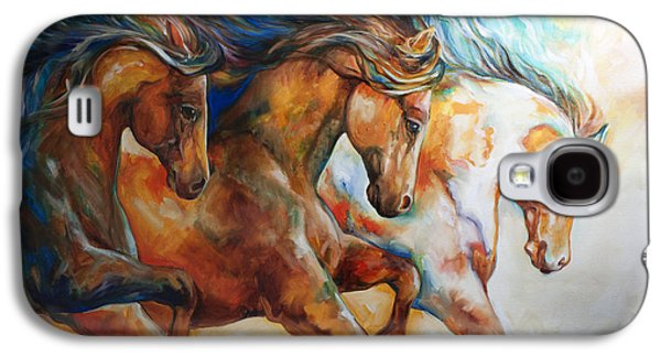 Wild Trio Run Galaxy S4 Case by Marcia Baldwin