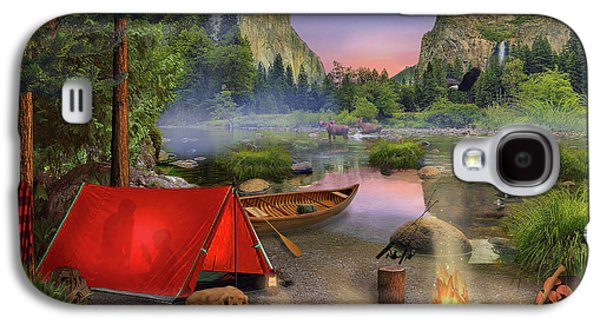 Galaxy S4 Case featuring the drawing Wilderness Trip by David M ( Maclean )