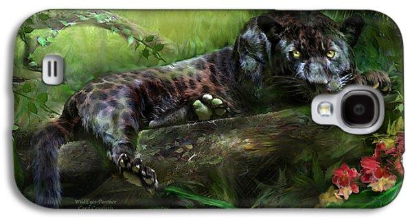 Wildeyes - Panther Galaxy S4 Case by Carol Cavalaris