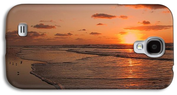 Sandpiper Galaxy S4 Case - Wildwood Beach Sunrise II by David Dehner