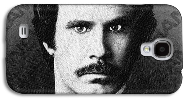 Will Ferrell Anchorman The Legend Of Ron Burgundy Drawing Galaxy S4 Case by Tony Rubino
