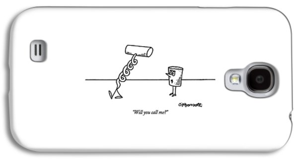 Will You Call Me? Galaxy S4 Case by Charles Barsotti