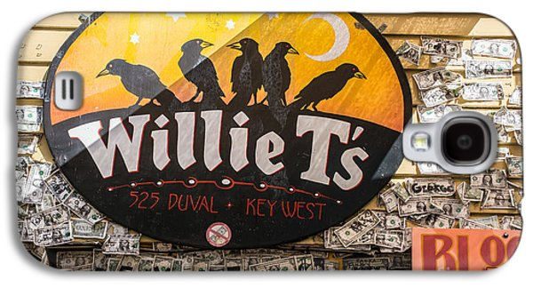Willie T's Bar And Dollar Bills Key West  Galaxy S4 Case by Ian Monk
