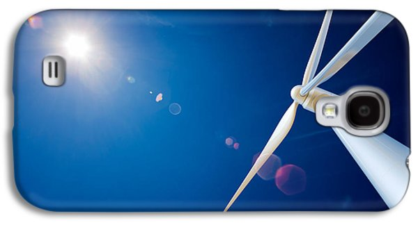 Wind Turbine And Sun  Galaxy S4 Case