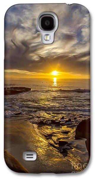Windansea Gold Galaxy S4 Case by Baywest Imaging