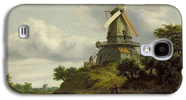 Windmill By A River Galaxy S4 Case by Jacob Isaaksz or Isaacksz van Ruisdael