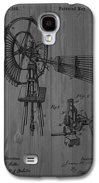 Windmill Patent Barn Wall Galaxy S4 Case by Dan Sproul