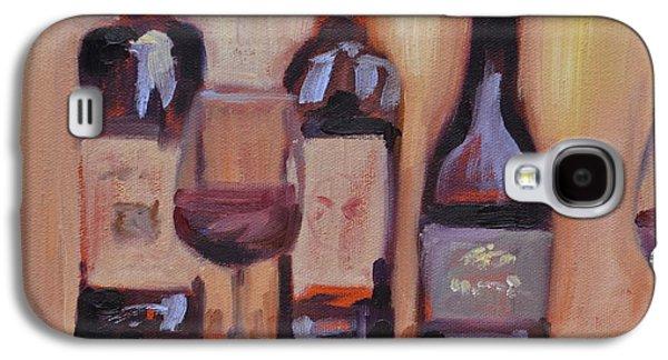 Wine Bottle Trio Galaxy S4 Case by Donna Tuten