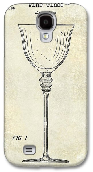 Wine Glass Patent Drawing Galaxy S4 Case by Jon Neidert