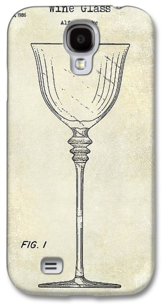 Wine Glass Patent Drawing Galaxy S4 Case