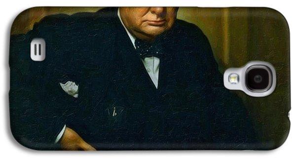 Winston Churchill Galaxy S4 Case by Adam Asar