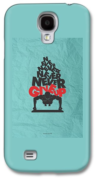 Winston Churchill Quotes Poster Galaxy S4 Case by Lab No 4 - The Quotography Department