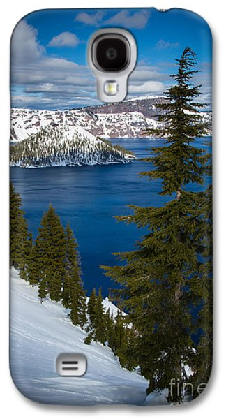 Winter At Crater Lake Galaxy S4 Case by Inge Johnsson
