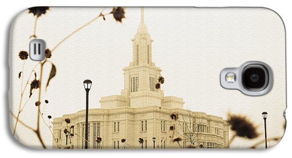 Winter At The Payson Temple Galaxy S4 Case by Gloria Pasko