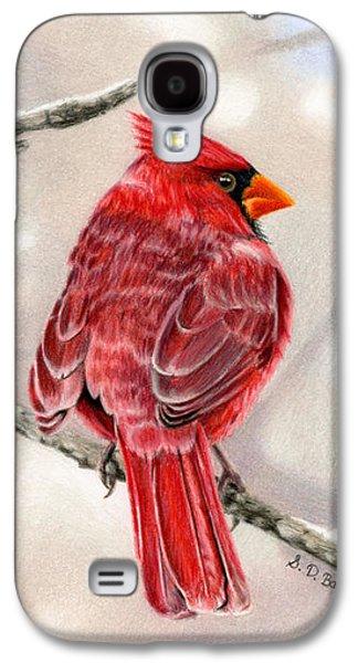 Cardinal Galaxy S4 Case - Winter Cardinal by Sarah Batalka