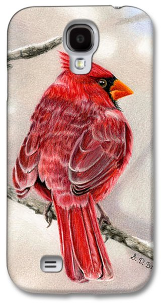 Winter Cardinal Galaxy S4 Case by Sarah Batalka