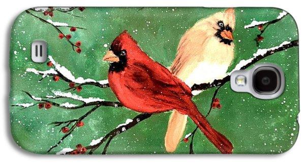 Winter Cardinals Galaxy S4 Case