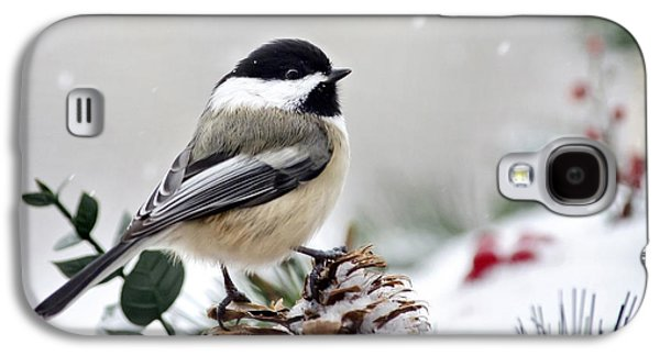 Winter Chickadee Galaxy S4 Case
