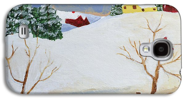 Cardinal Galaxy S4 Case - Winter Farm by Bryan Penzer