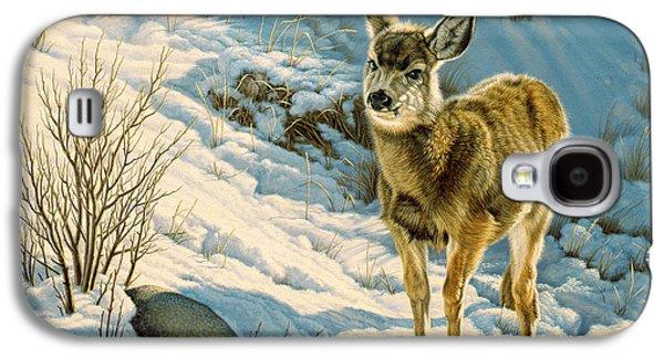 Winter Fawn - Mule Deer Galaxy S4 Case by Paul Krapf