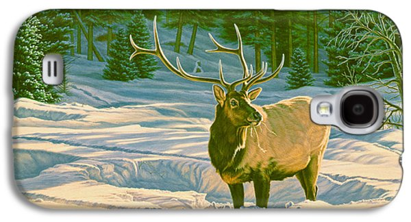 Bull Galaxy S4 Case - Winter Forage - Elk by Paul Krapf