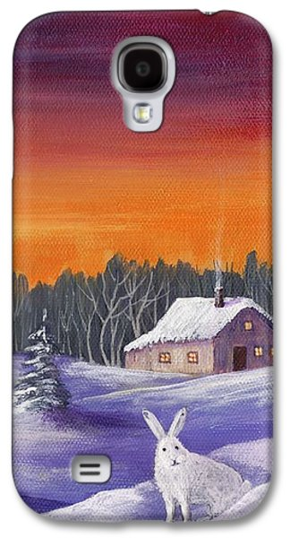 Winter Hare Visit Galaxy S4 Case