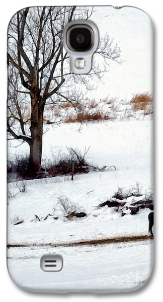 Winter Horse Pasture 1 Galaxy S4 Case by Janine Riley