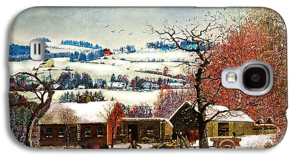 Winter In The Country Folk Art Galaxy S4 Case
